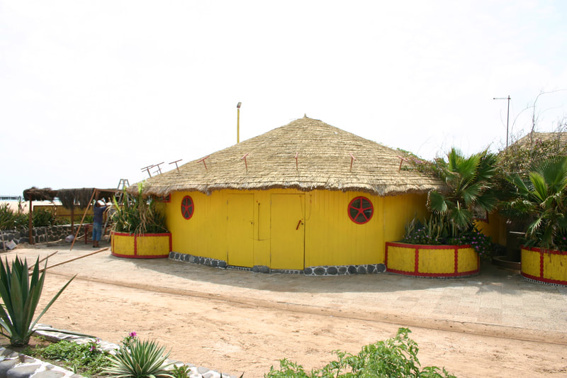 yellow house, Sal, Cape Verde