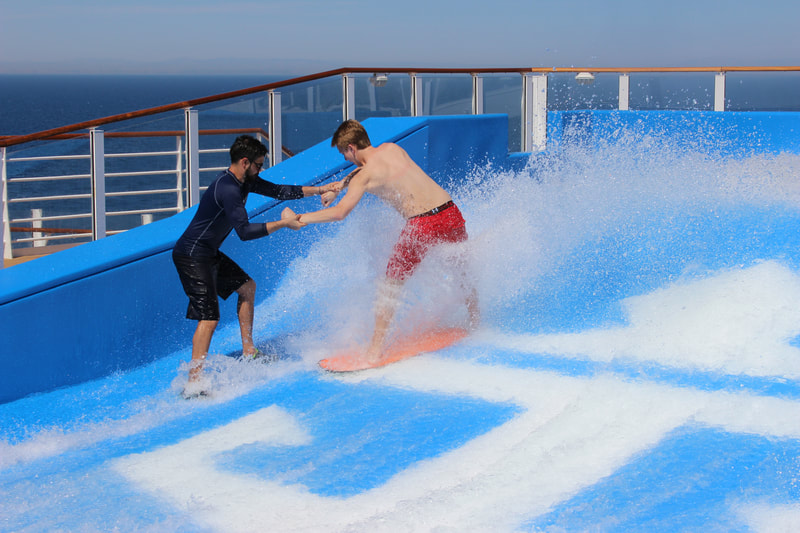 Flowriding, surfing on Symphony of the Seas