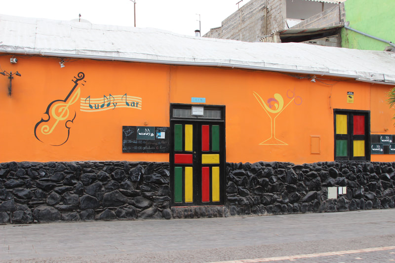 it's all about colour in Santa Maria,  Cape Verde